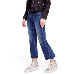 Free People Rita Crop Flare Jeans Dark Wash NWT